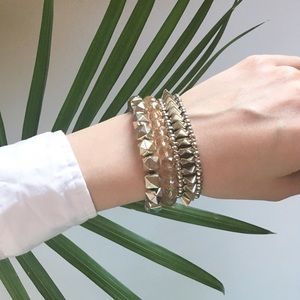 Express Stretch Bracelet Set of 3 Spike Geometric